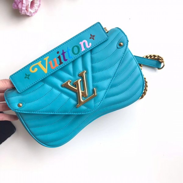 Louis Vuitton Turquoise New Wave Chain Bag MM M51946