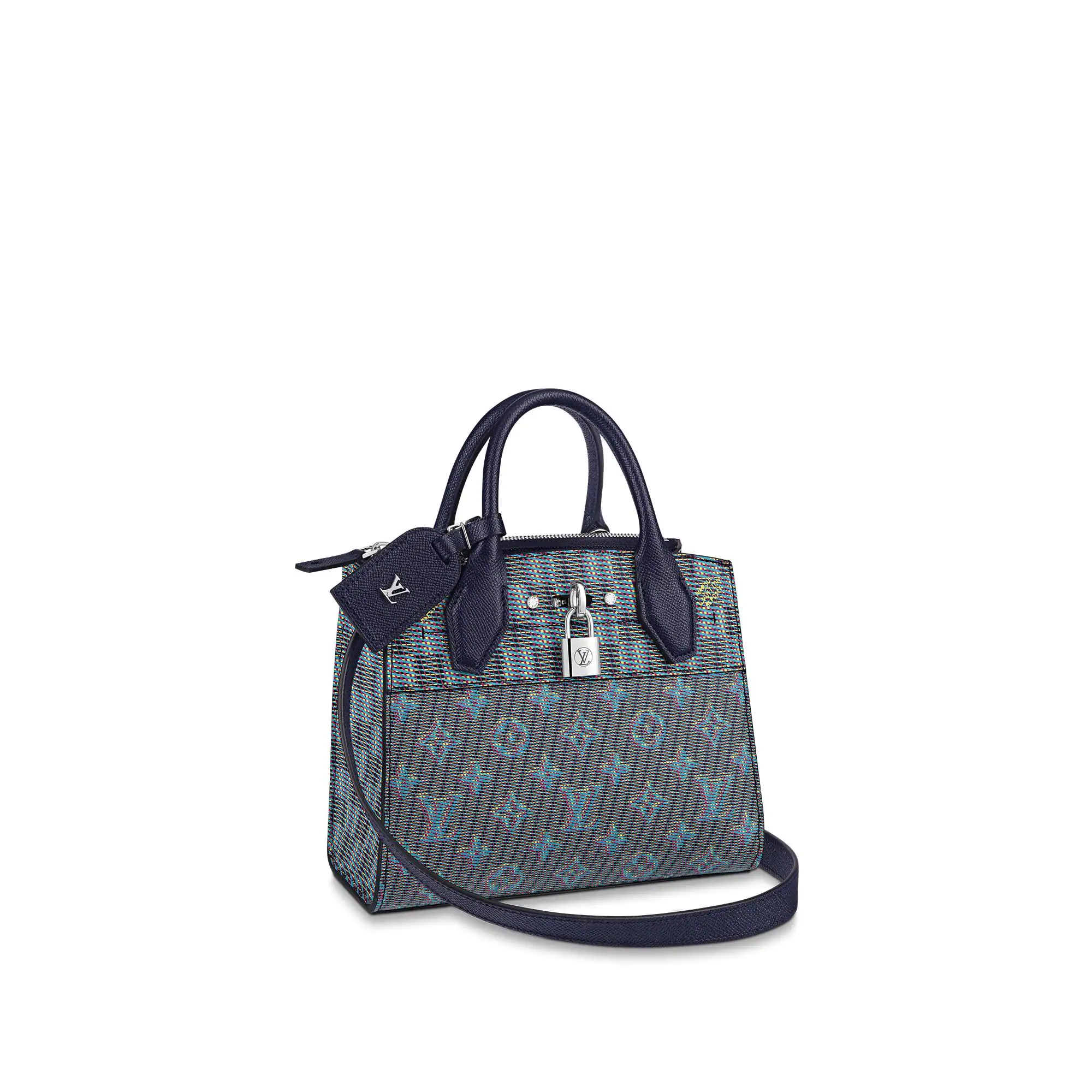 Louis Vuitton Monogram Pop City Steamer PM Top handle Bag M55469 Blue