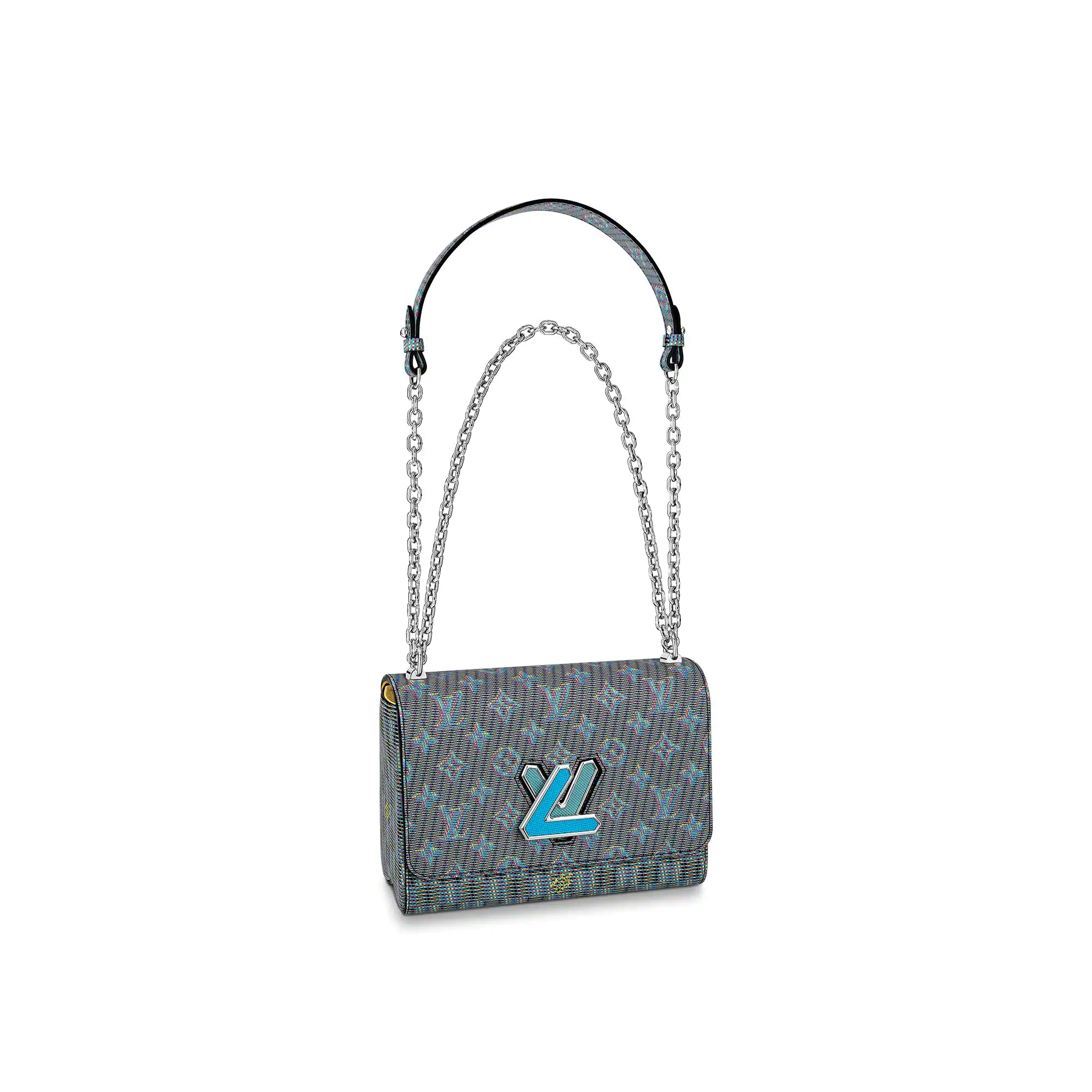 Louis Vuitton Monogram Pop Twist MM Shoulder Bag M55480 Blue