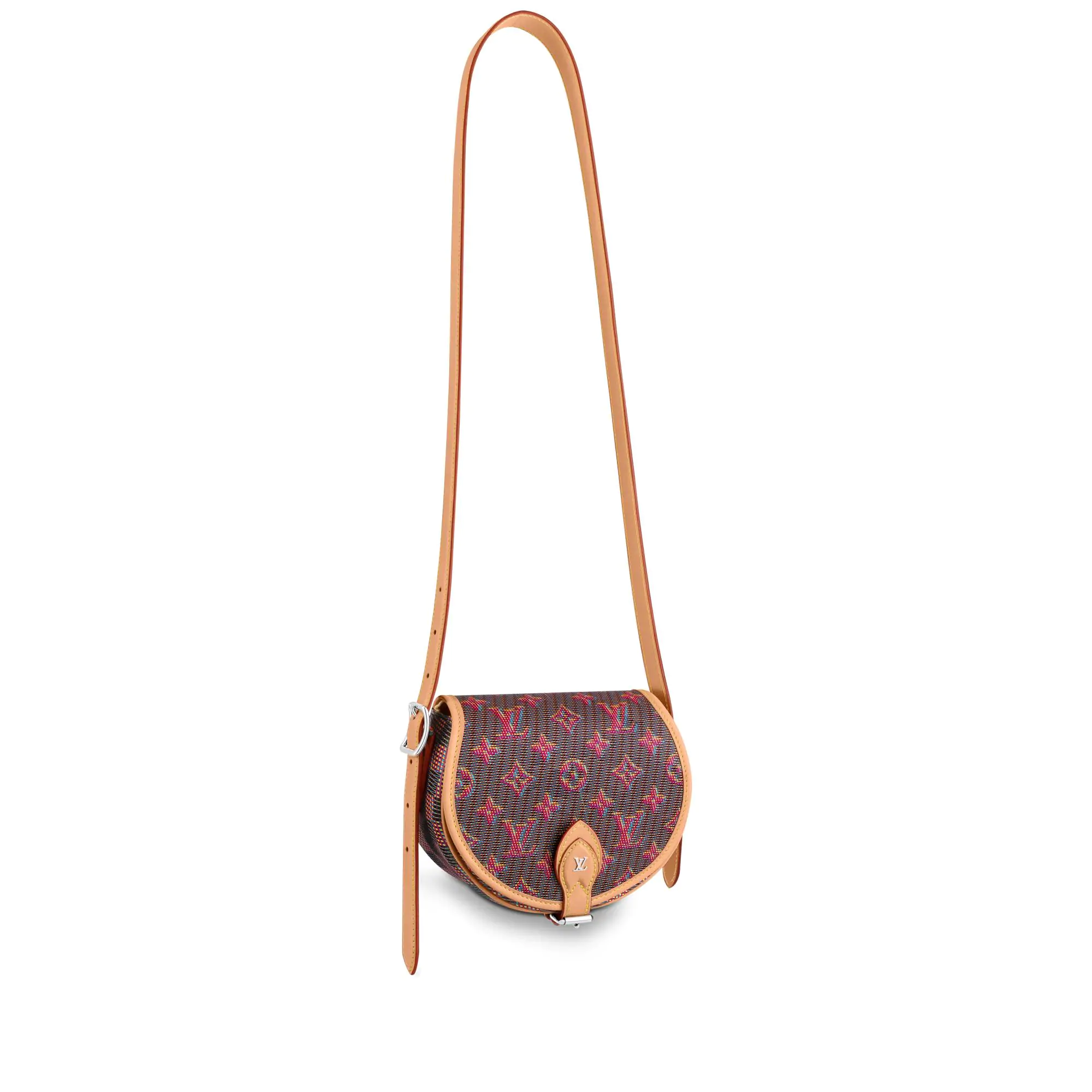 Louis Vuitton Tambourin Monogram Pop Round Shoulder Bag M55460 Red