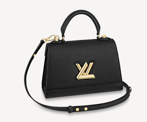 Louis Vuitton Twist One Handle Bag PM in Black Taurillon Leather M57093