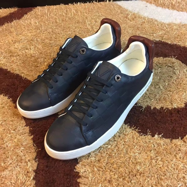 Louis Vuitton Frontrow Sneaker In Black Damier Calf Leather