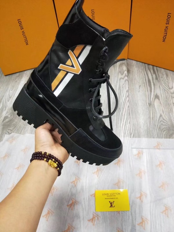 Louis Vuitton Black Spaceship Desert Boot