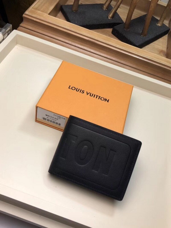 Louis Vuitton Multiple Wallet Dark Infinity Leather M63235