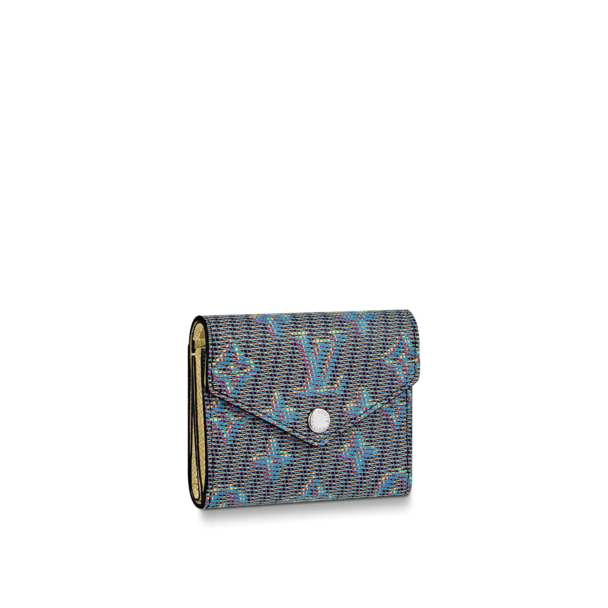 Louis Vuitton Damier LV Pop Zoe Flap Wallet N60282 Blue